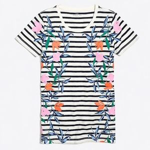J.Crew Factory Collector Tee Stripes Floral Small
